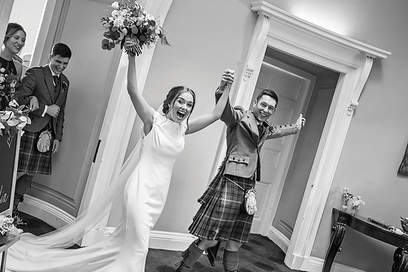 couple entering the reception room