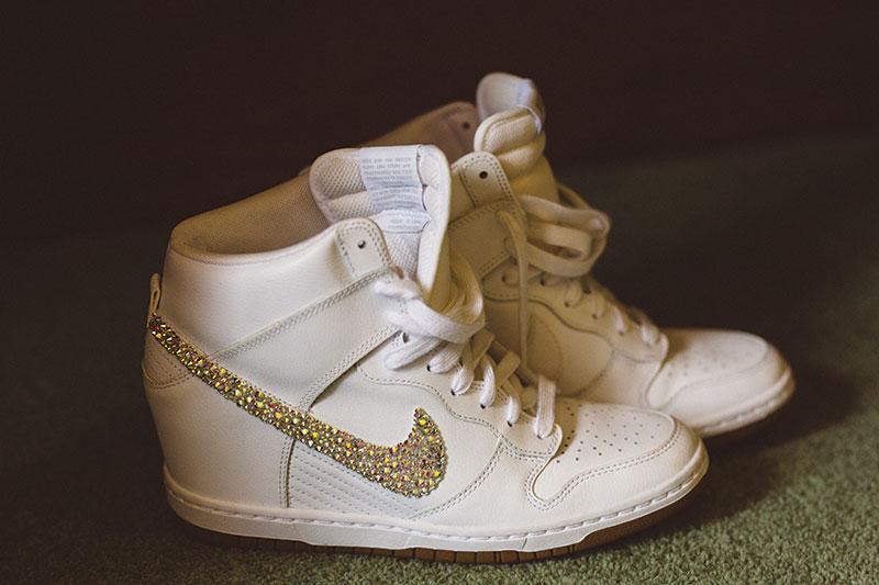 bridal Nike trainers