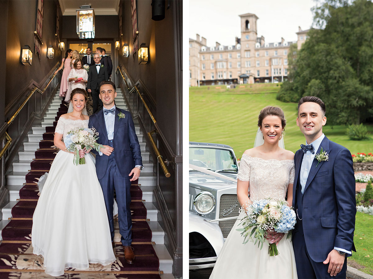 couple-walking-down-stair-and-grounds-at-Dunblane-Hydro