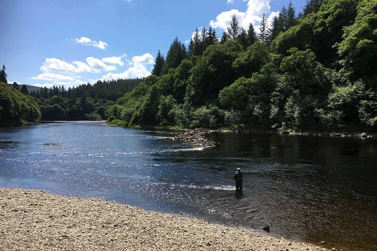 fishing at Dunkeld