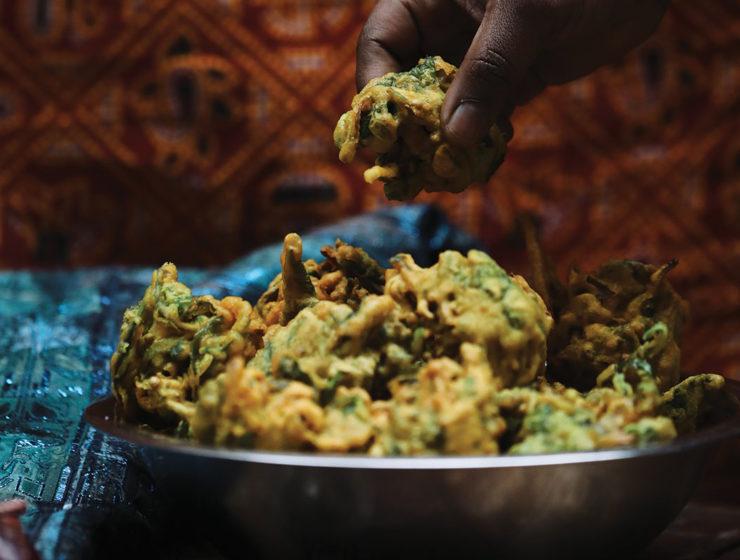 babu kitchen spinach and onion pakora