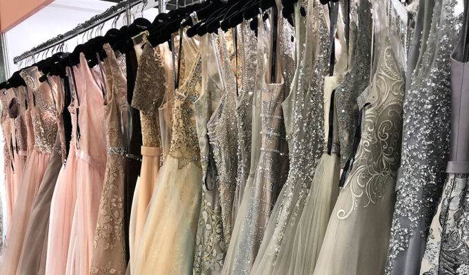CHRISTIAN-KOHLERT gowns on a rail