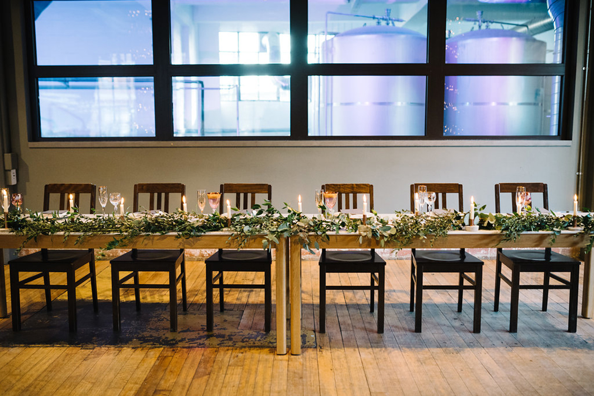 table-covered-in-foliage-at-west-brewery