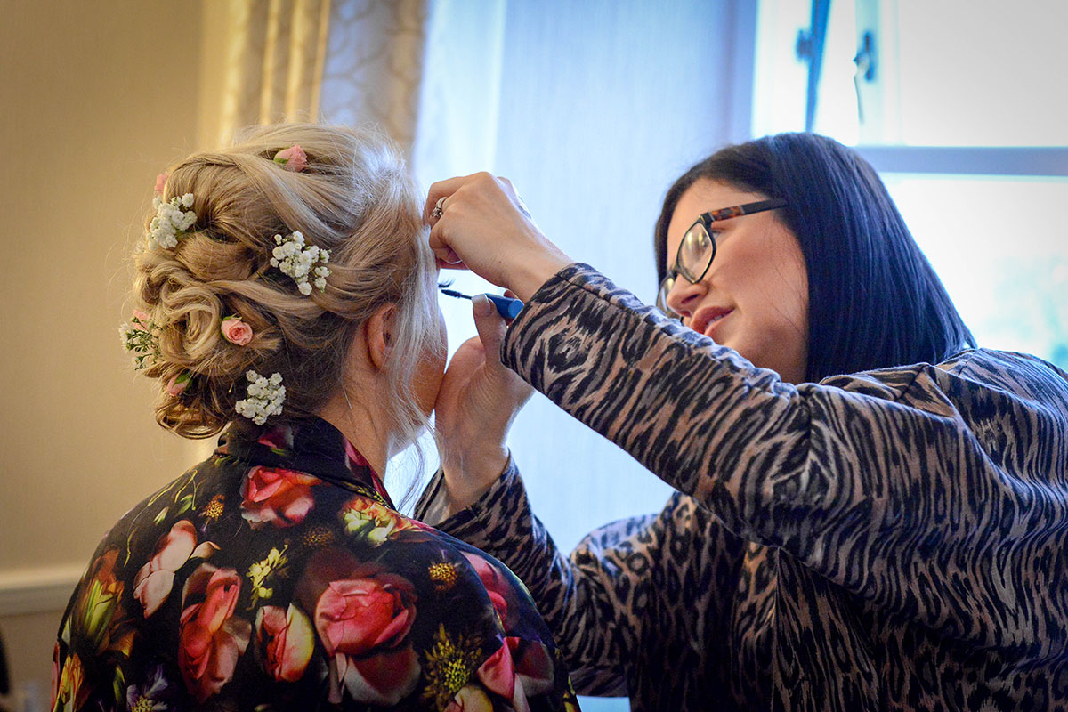 bridesmaid-having-makeup-done