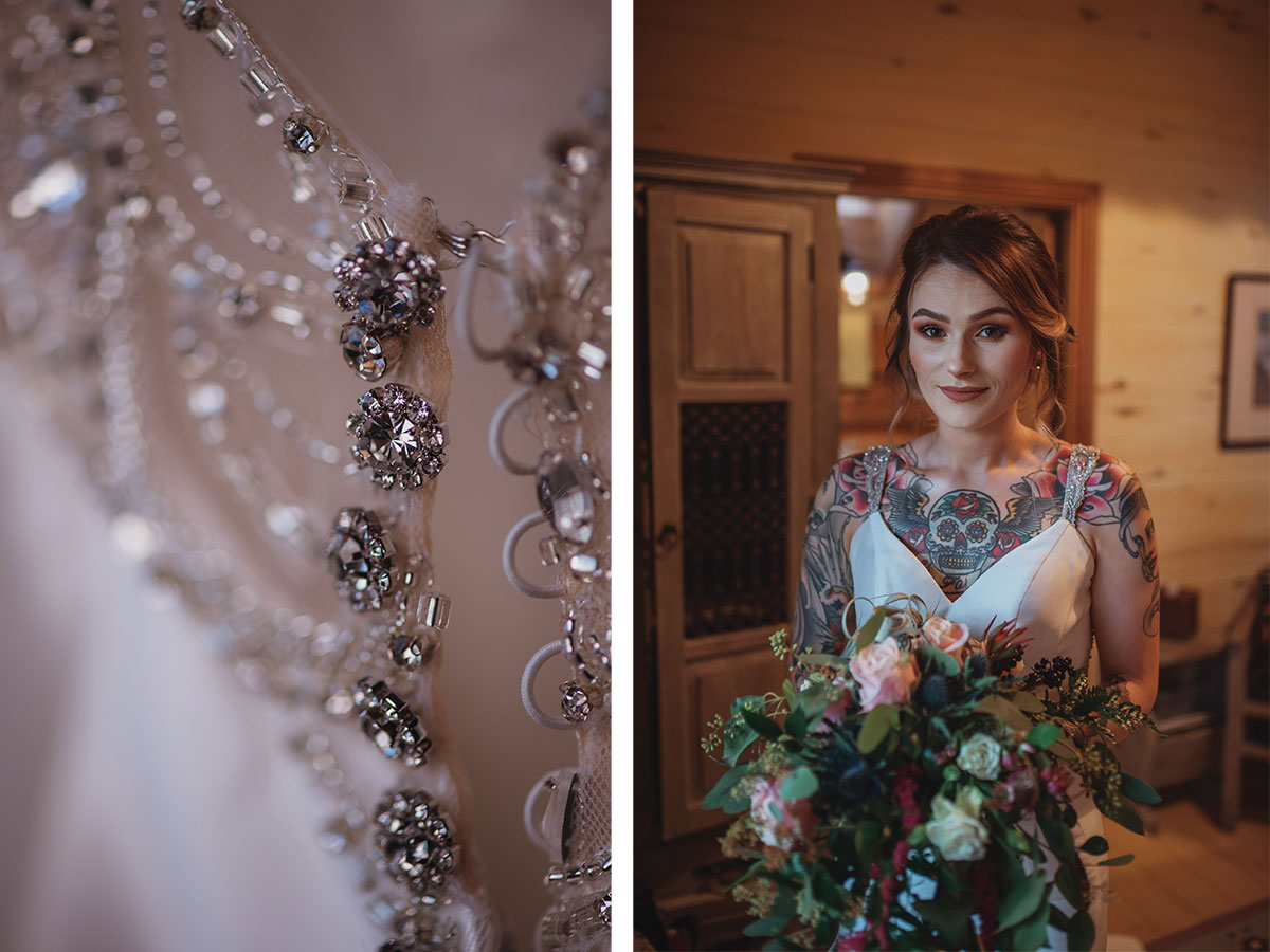 closeup-of-wedding-dress-and-bride-holding-flowers