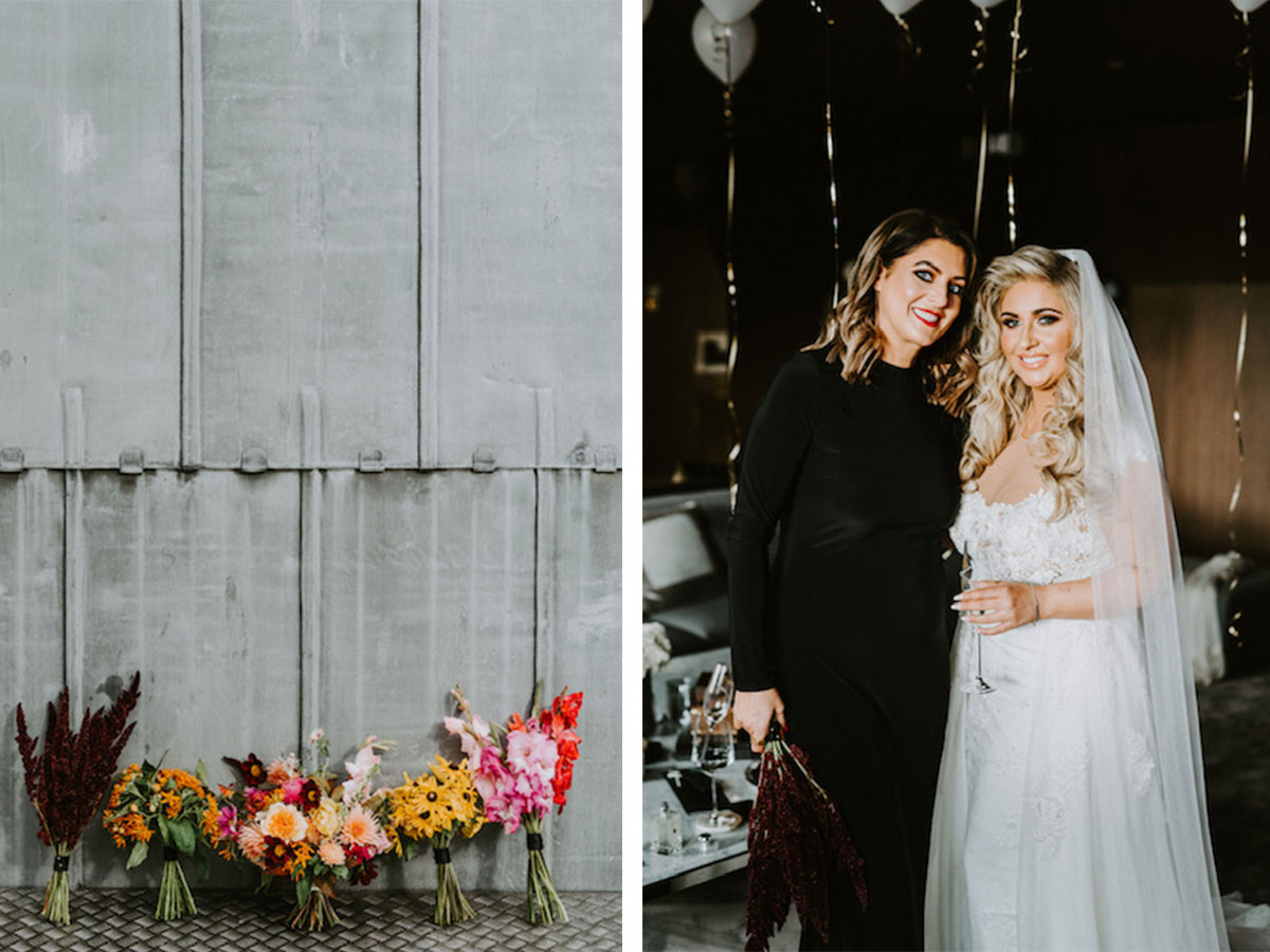 wedding-flowers-and-bride-and-maid-of-honour