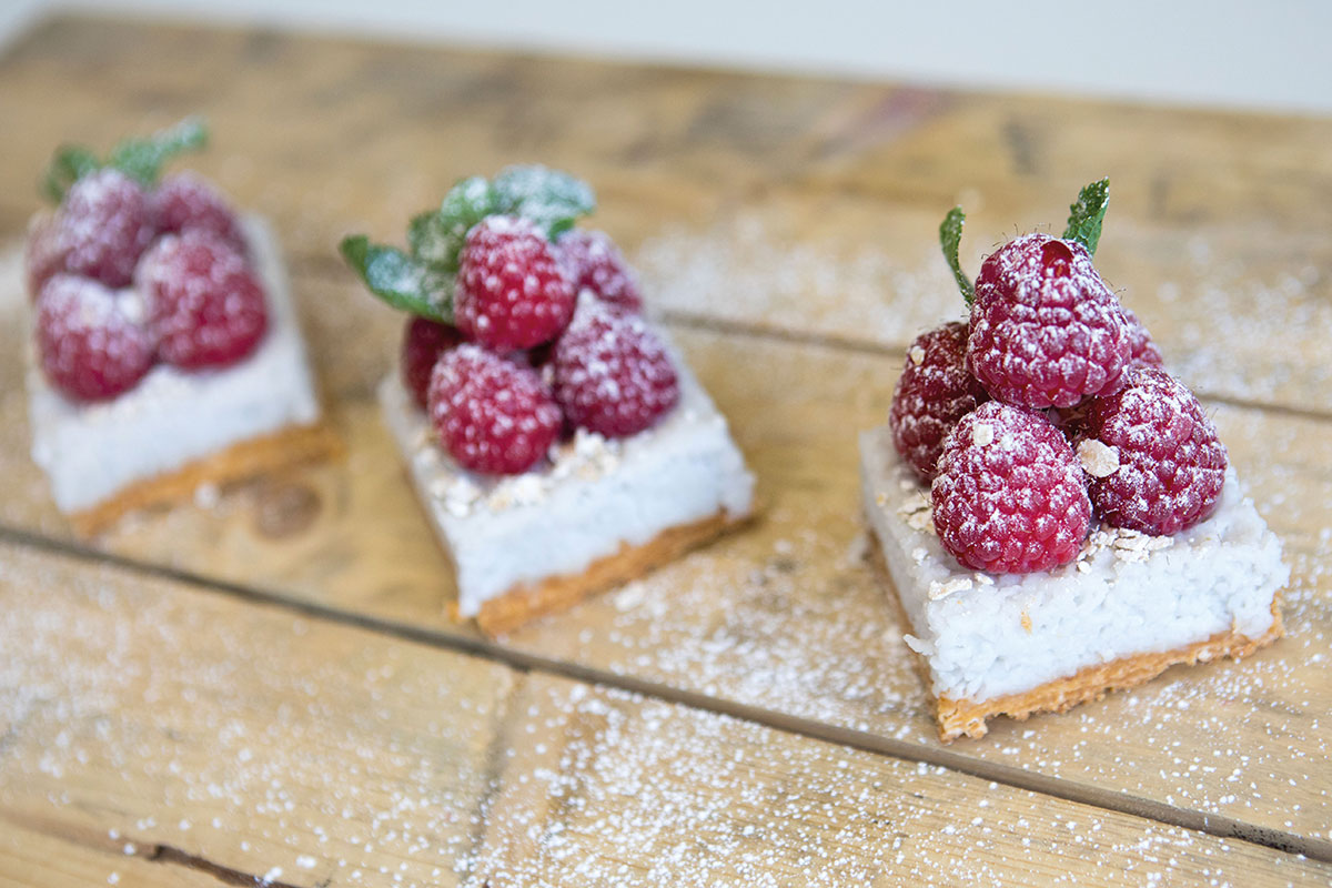 Bespoke-Catering-raspberry-rice-pudding-bites