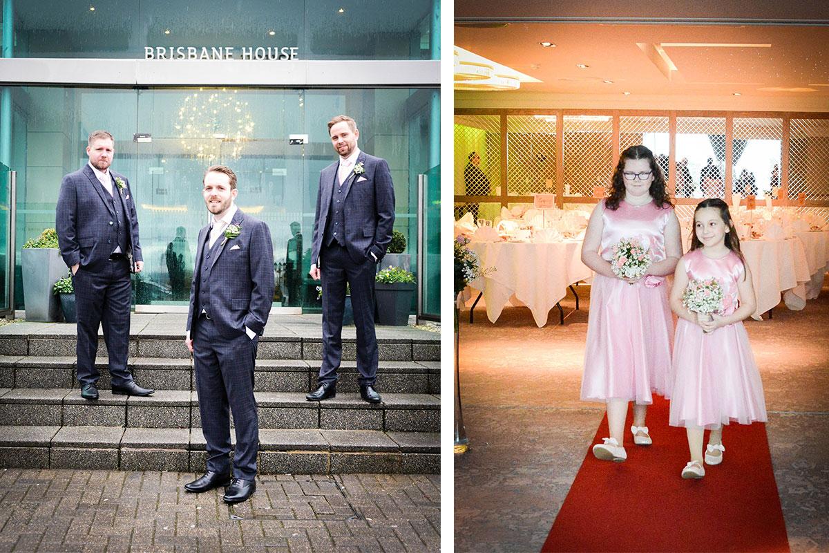 groom-and-groomsmen-at-brisbane-house-and-flowergirls-walking-down-aisle