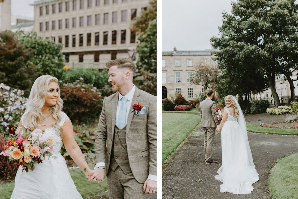 bride-and-groom-in-blythswood-gardens