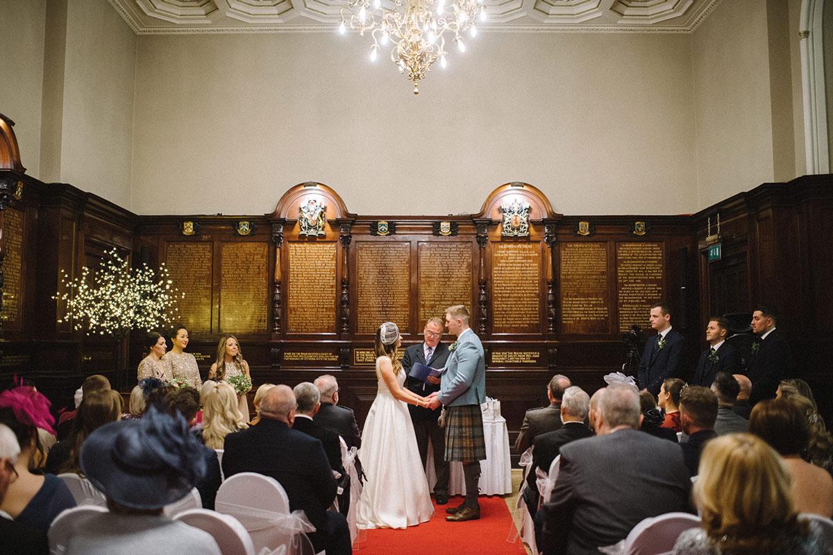 Wedding ceremony at Trades Hall, Glasgow