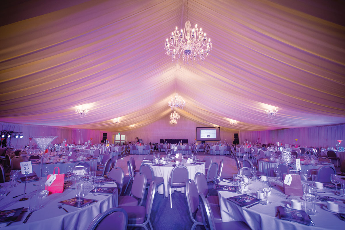 Ingliston Country Club dancing event marquee