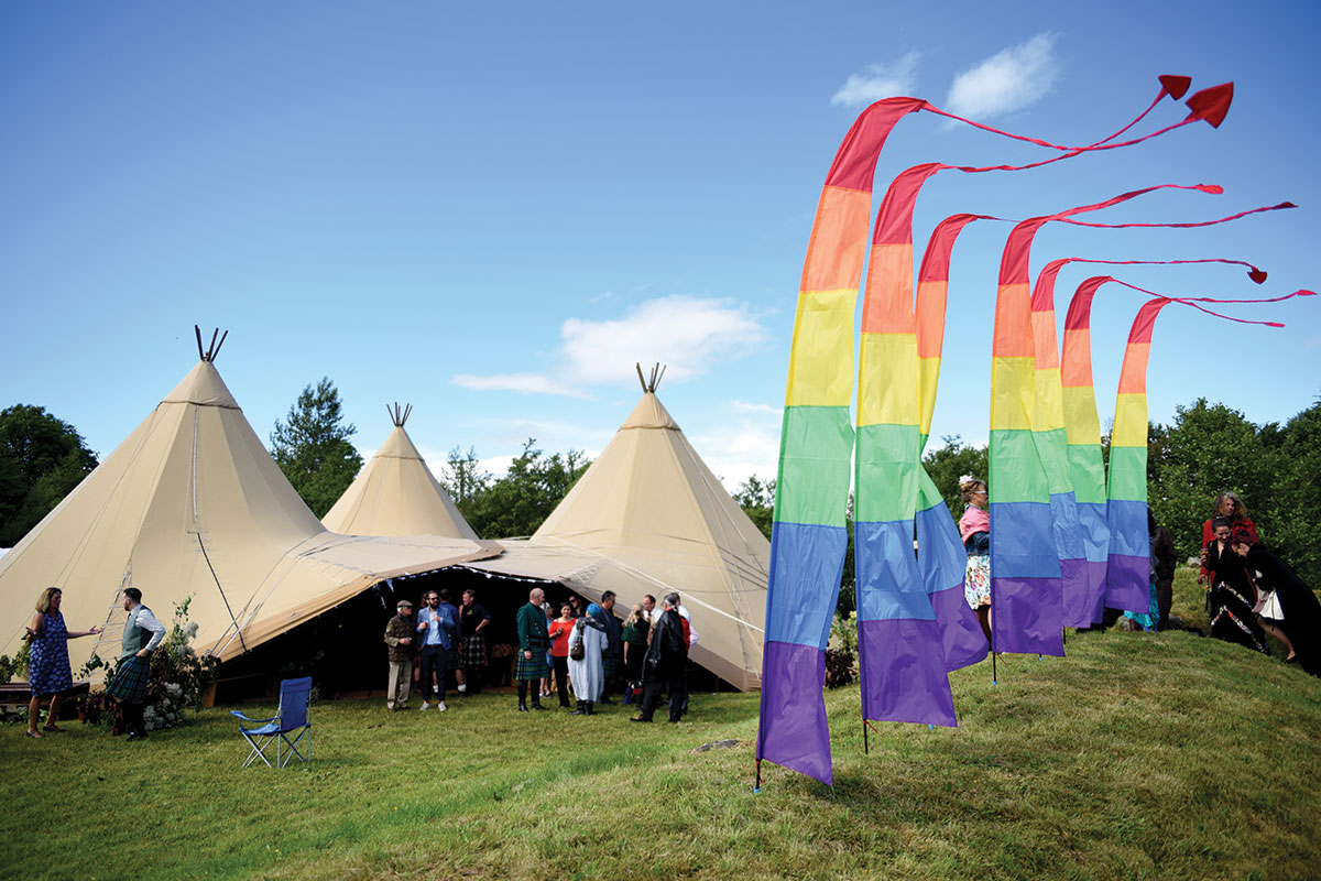 wedding-teepees-and-rainbow-flags
