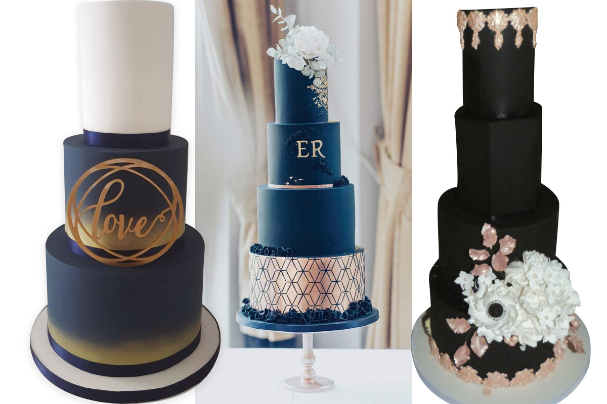 three-dark-wedding-cakes