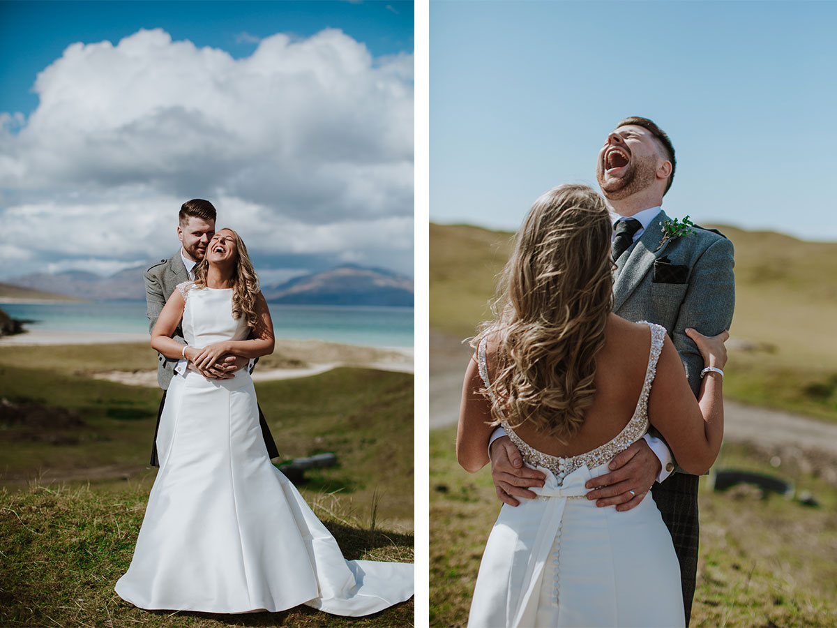 bride-and-groom-laughing-while-having-photos-taken