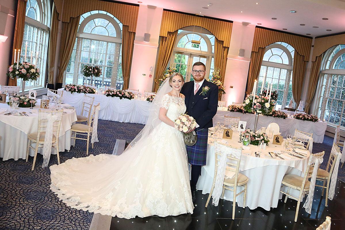 bride-and-groom-at-ballroom-at-balbirnie