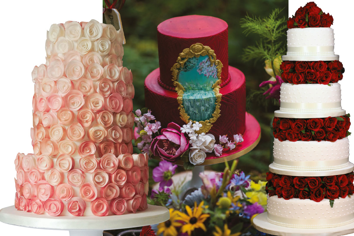 three-red-and-blush-wedding-cakes
