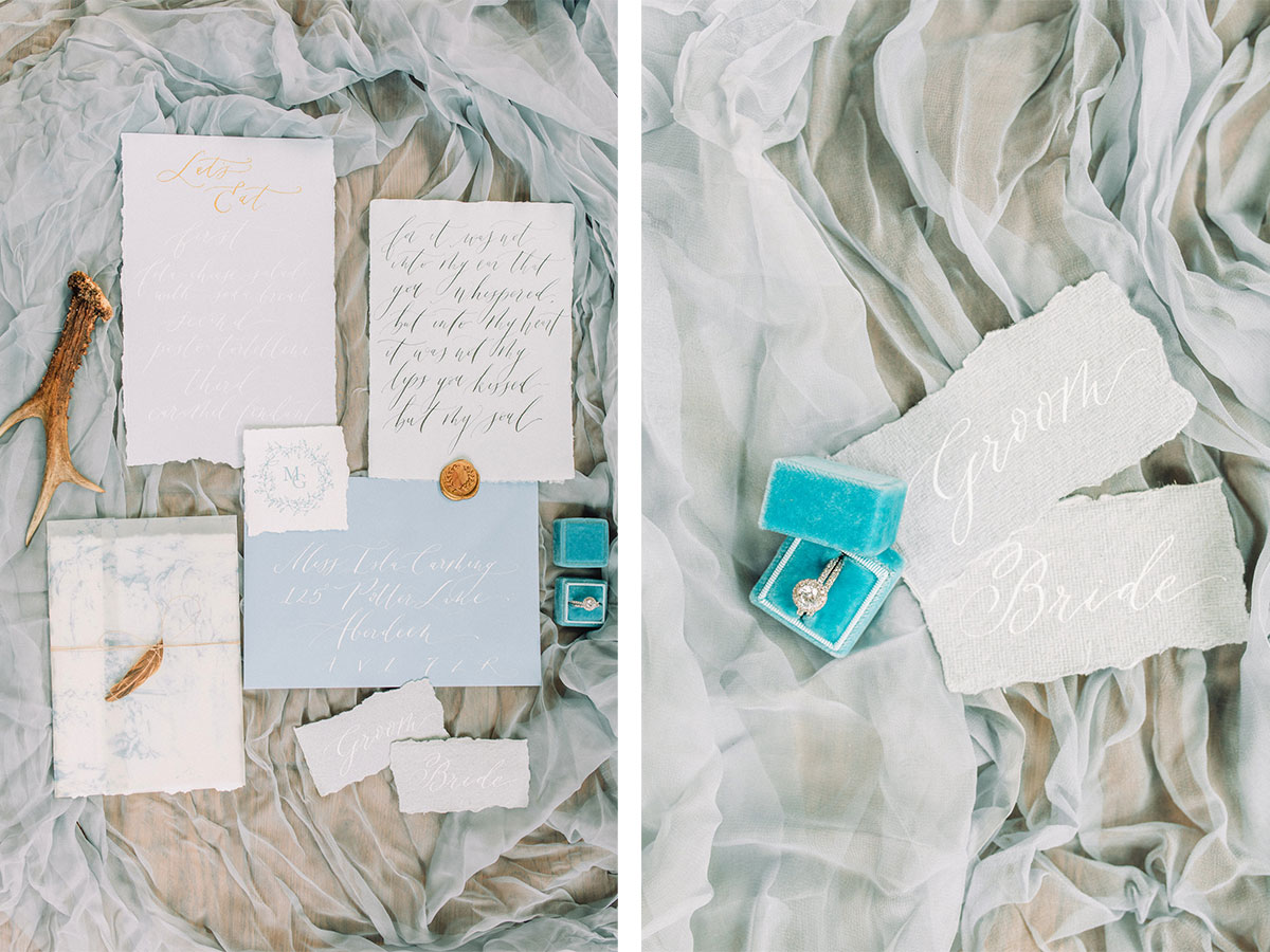 calligraphy-invitation-and-diamond-engagement-ring