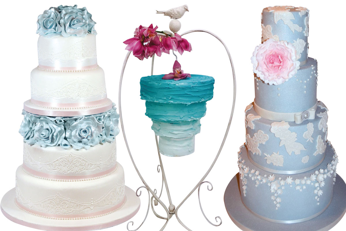 three-blue-wedding-cakes