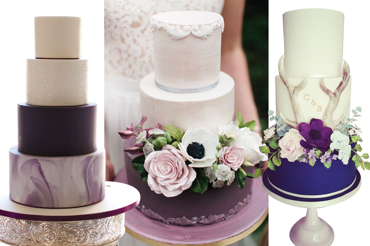 three-purple-wedding-cakes