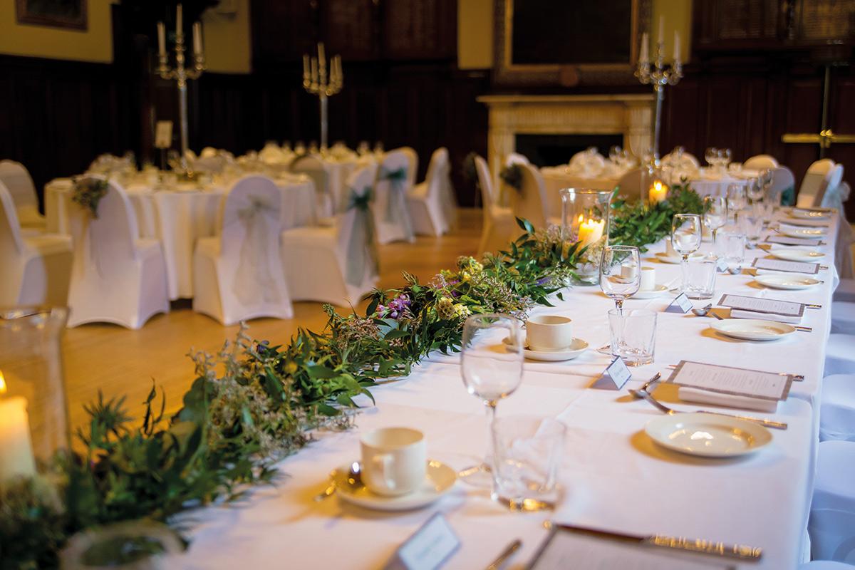 trades hall blushing brides