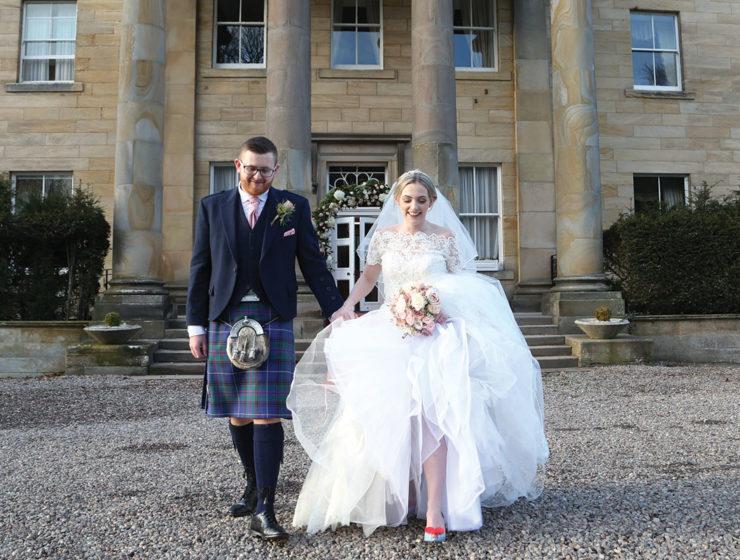 bride-and-groom-outside-balbirnie-house