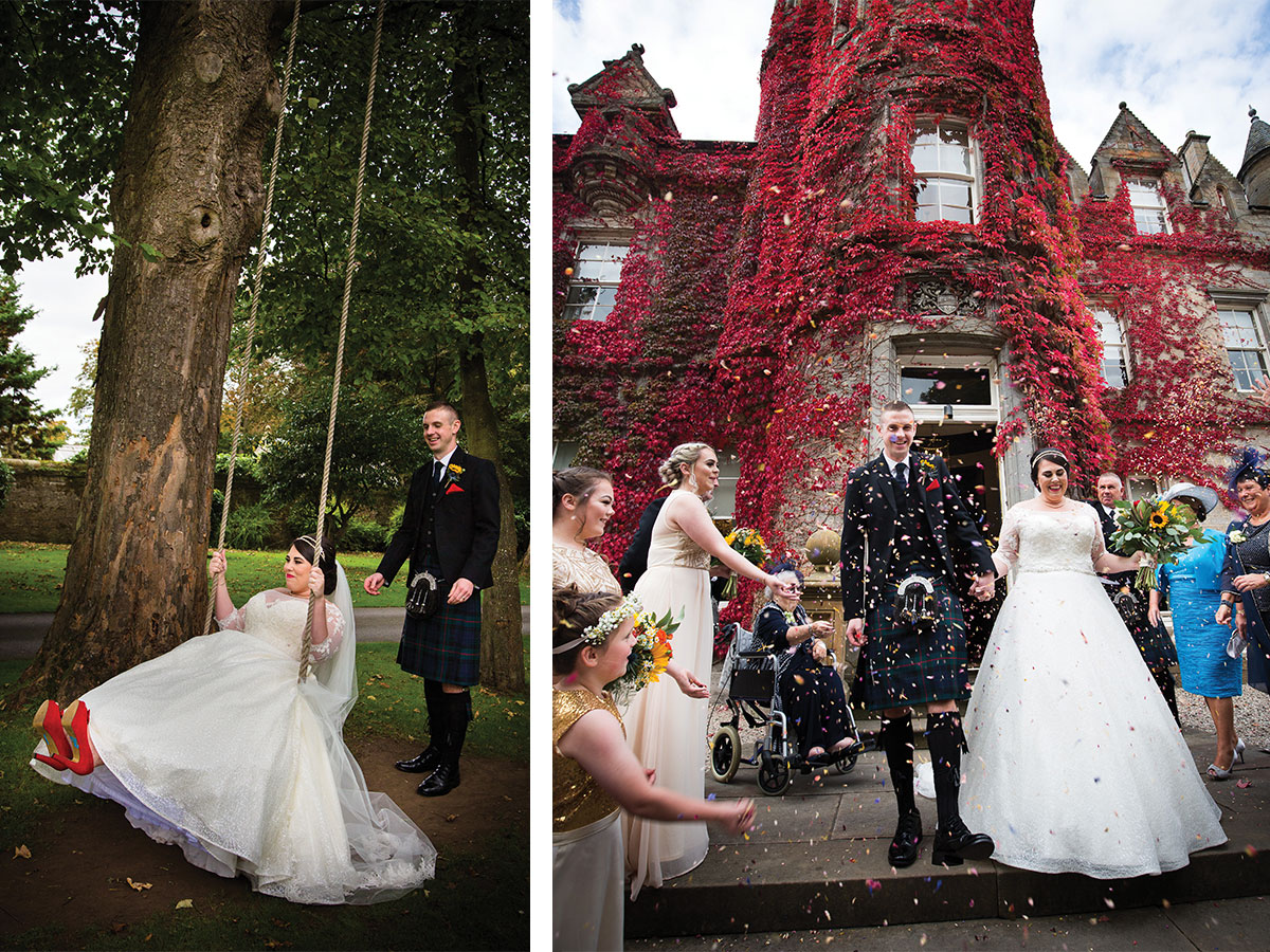 bride-on-swing-and-guests-throwing-confetti
