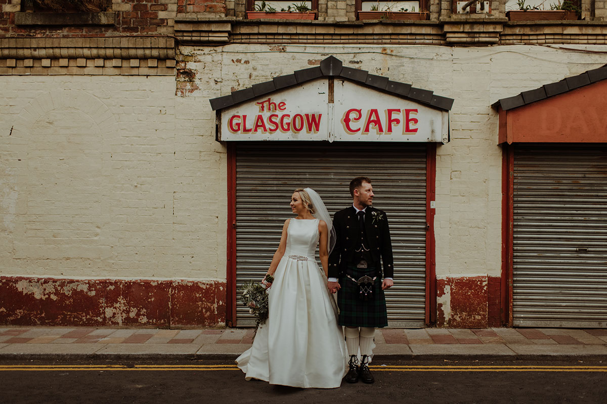 bride-and-groom-outside-cafe