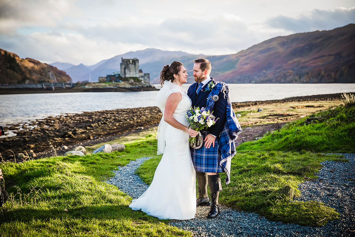 bride-and-groom-outside-the-castle