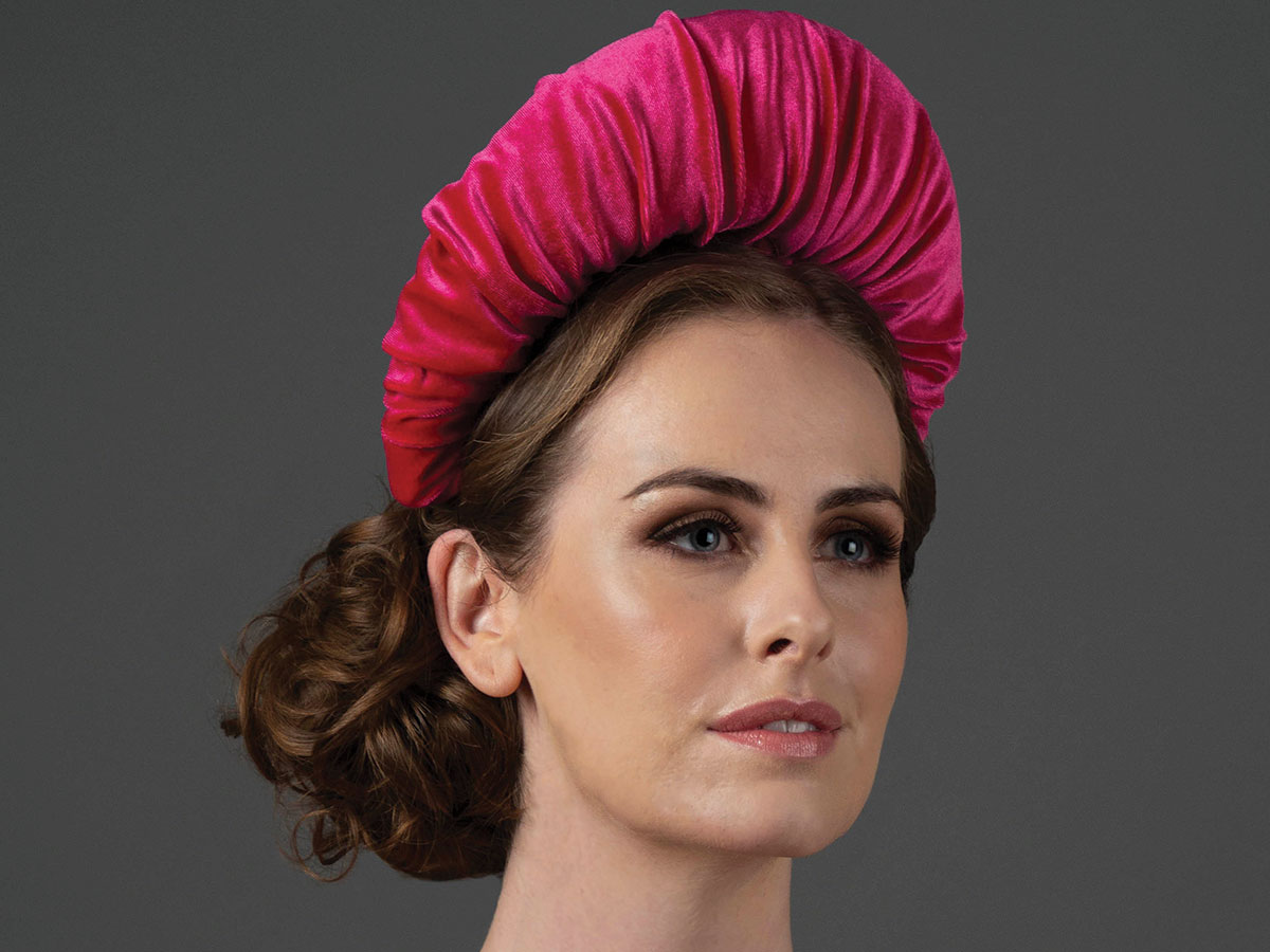 Stephanie-Gallen-pink-headpiece