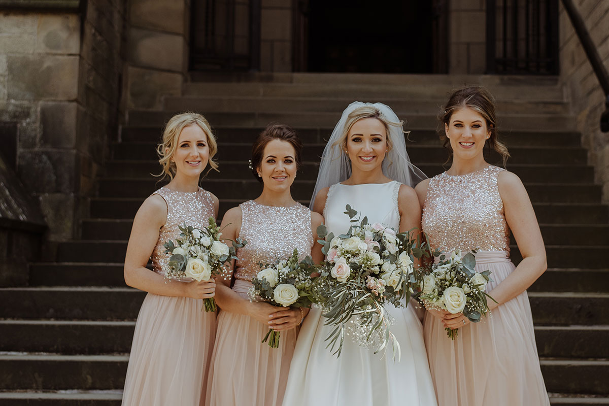 bride-and-bridesmaids-in-pale-pink-dresses
