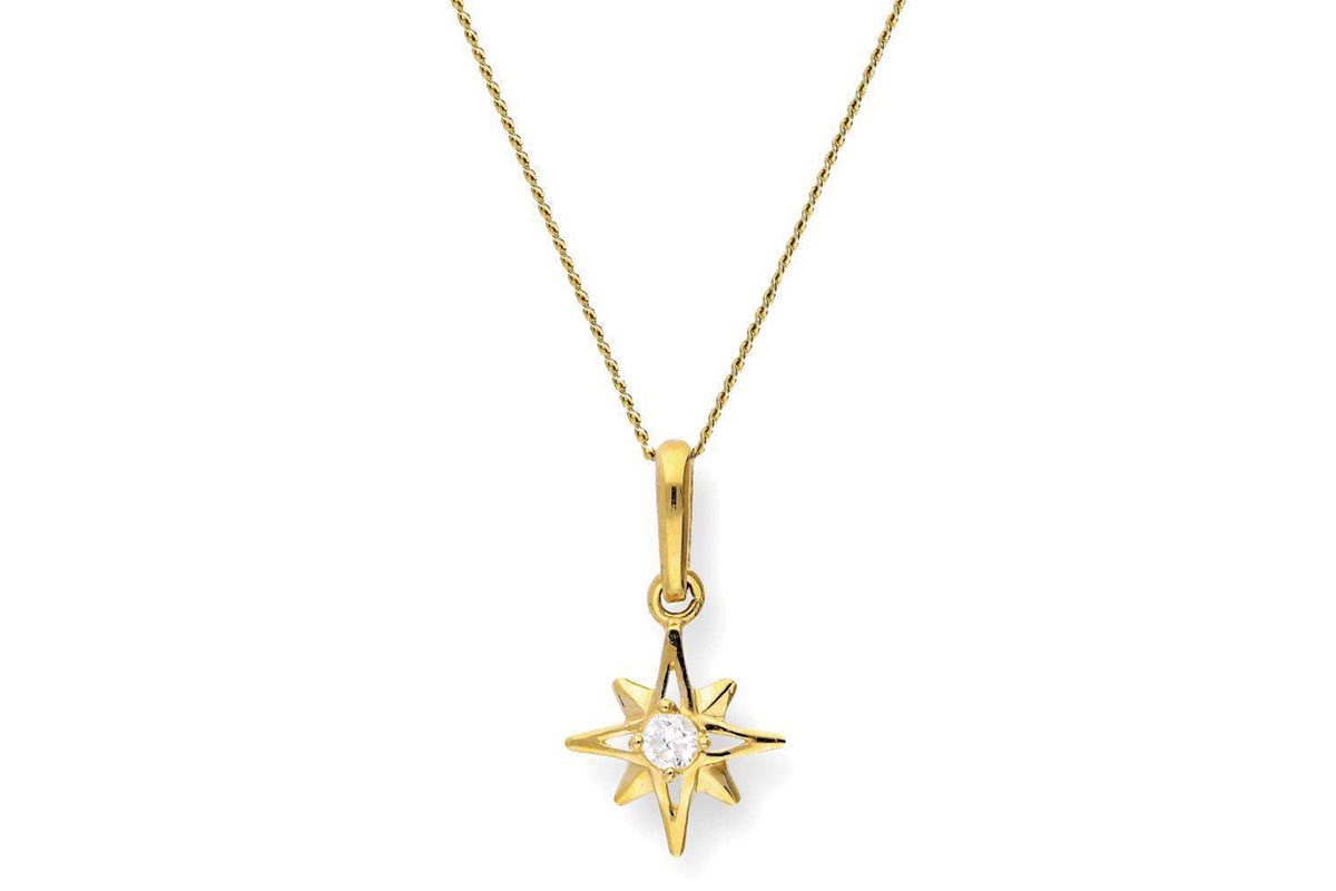 celestial_9ct_Gold_Crystal_Shining_Star_Pendant_on_Chain