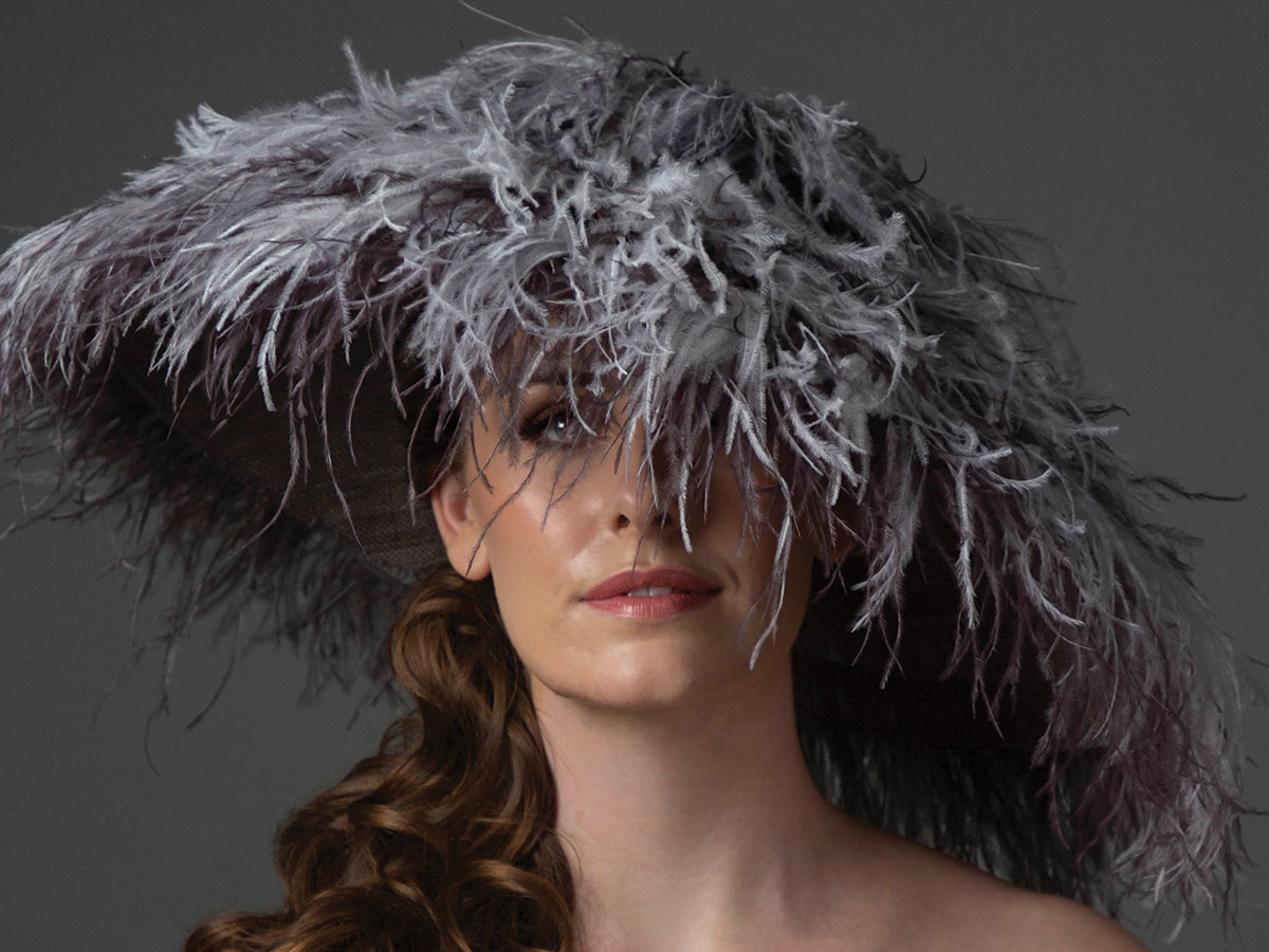 Stephanie-Gallen-feather-hat