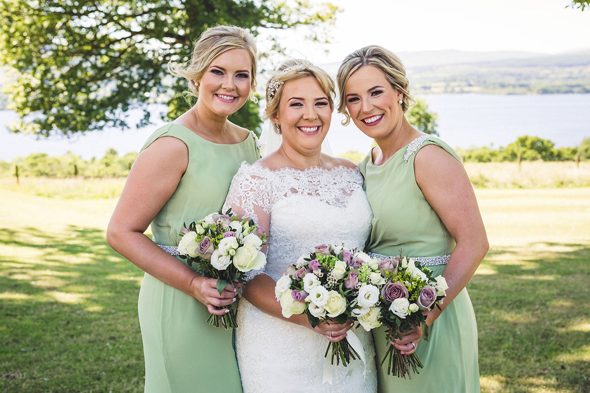 bride-and-bridesmaids-in-green-dresses