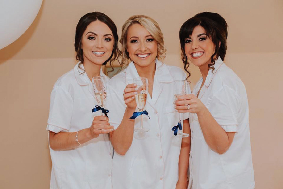 bride-and-bridesmaid-in-matching-pyjamas