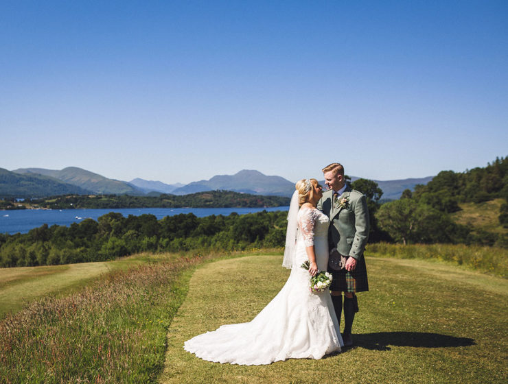 bride-and-groom-in-grounds-of-boturich-castle