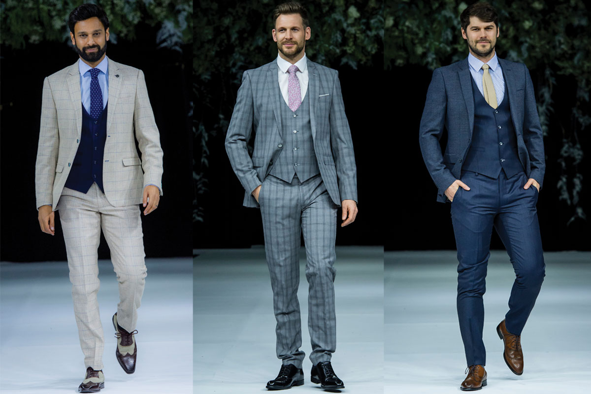 three suits in different styles