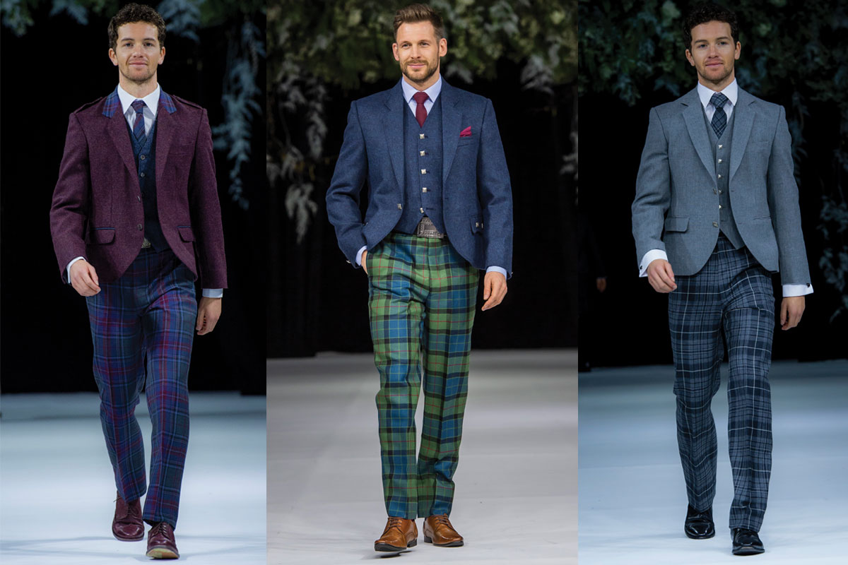 three tartan trouser outfits