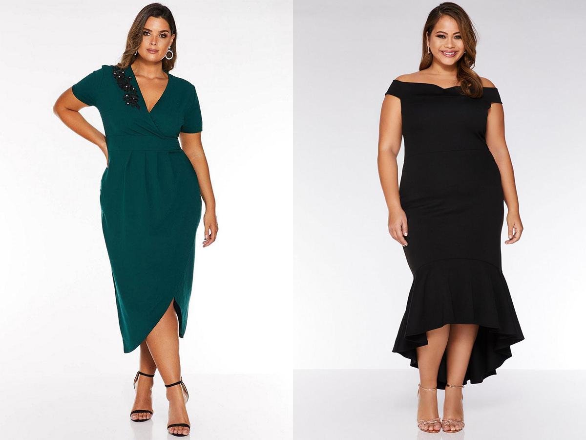 quiz-curve-green-dress-and-blue-bardot-dress