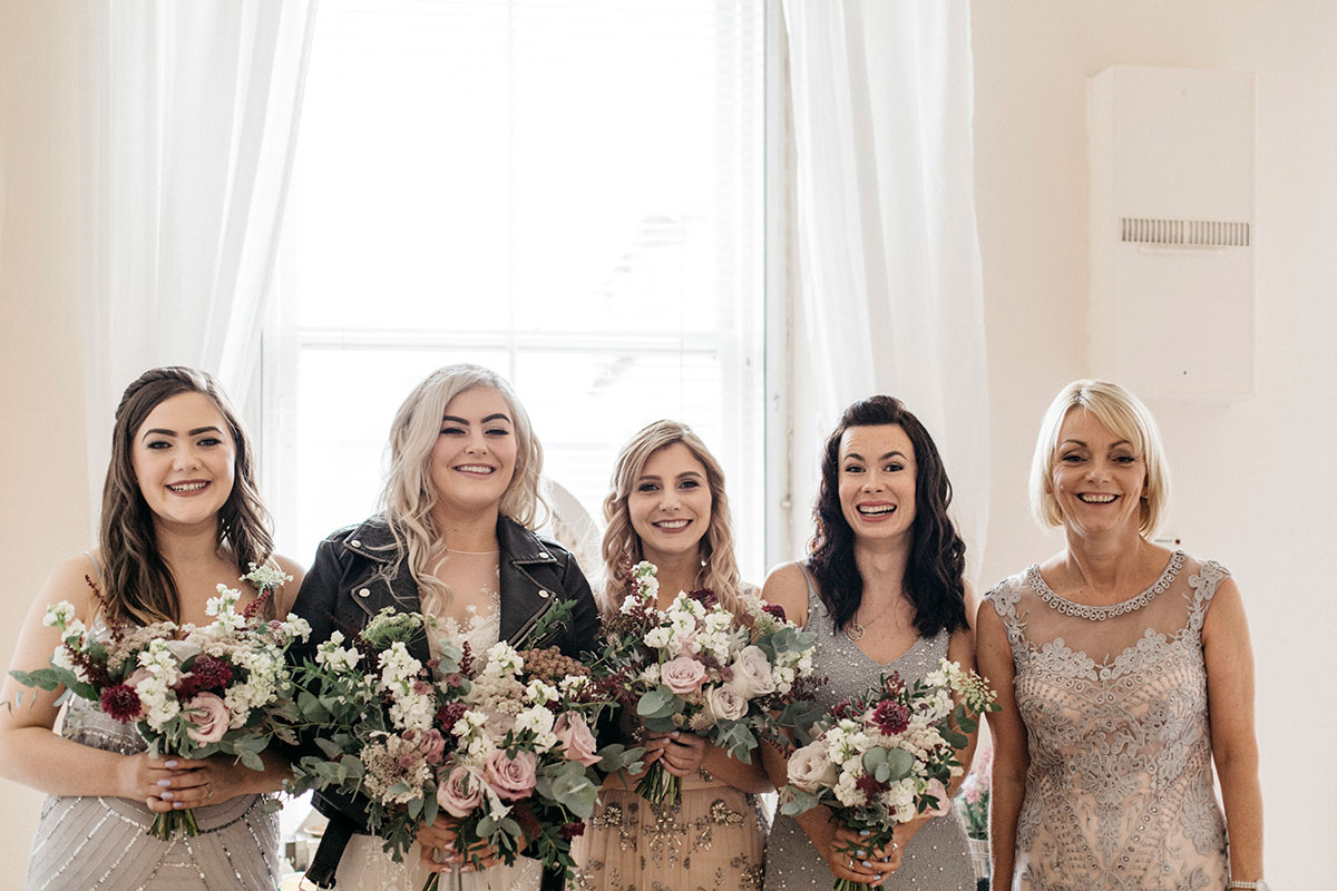bride-and-bridesmaids-in-embellished-dresses