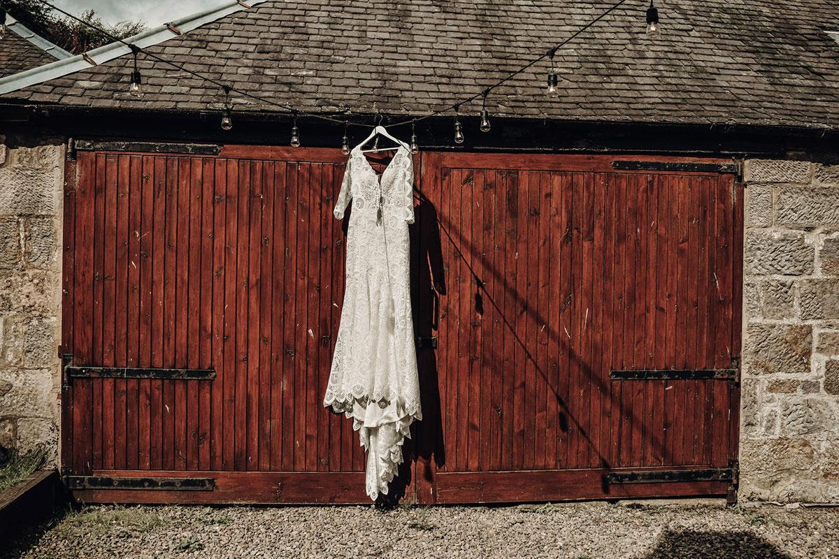 web-hanging-on-barn-doors