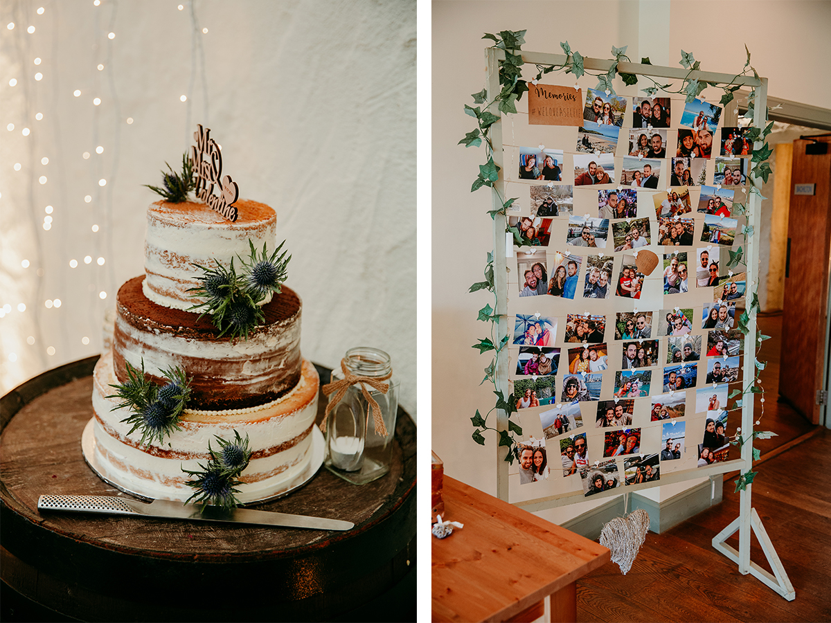 cake-and-polaroid-picture-display