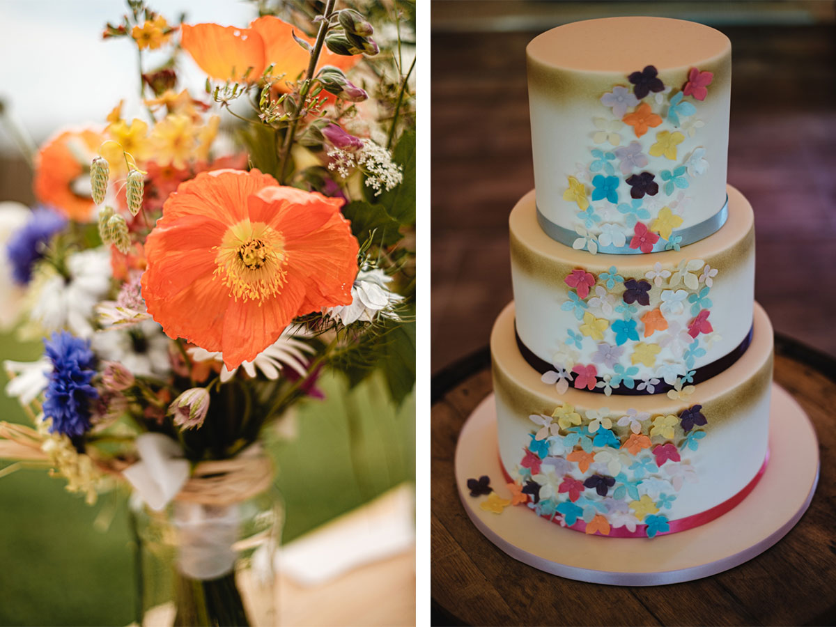 handpicked-bridal-bouquet-and-rainbow-floral-cake