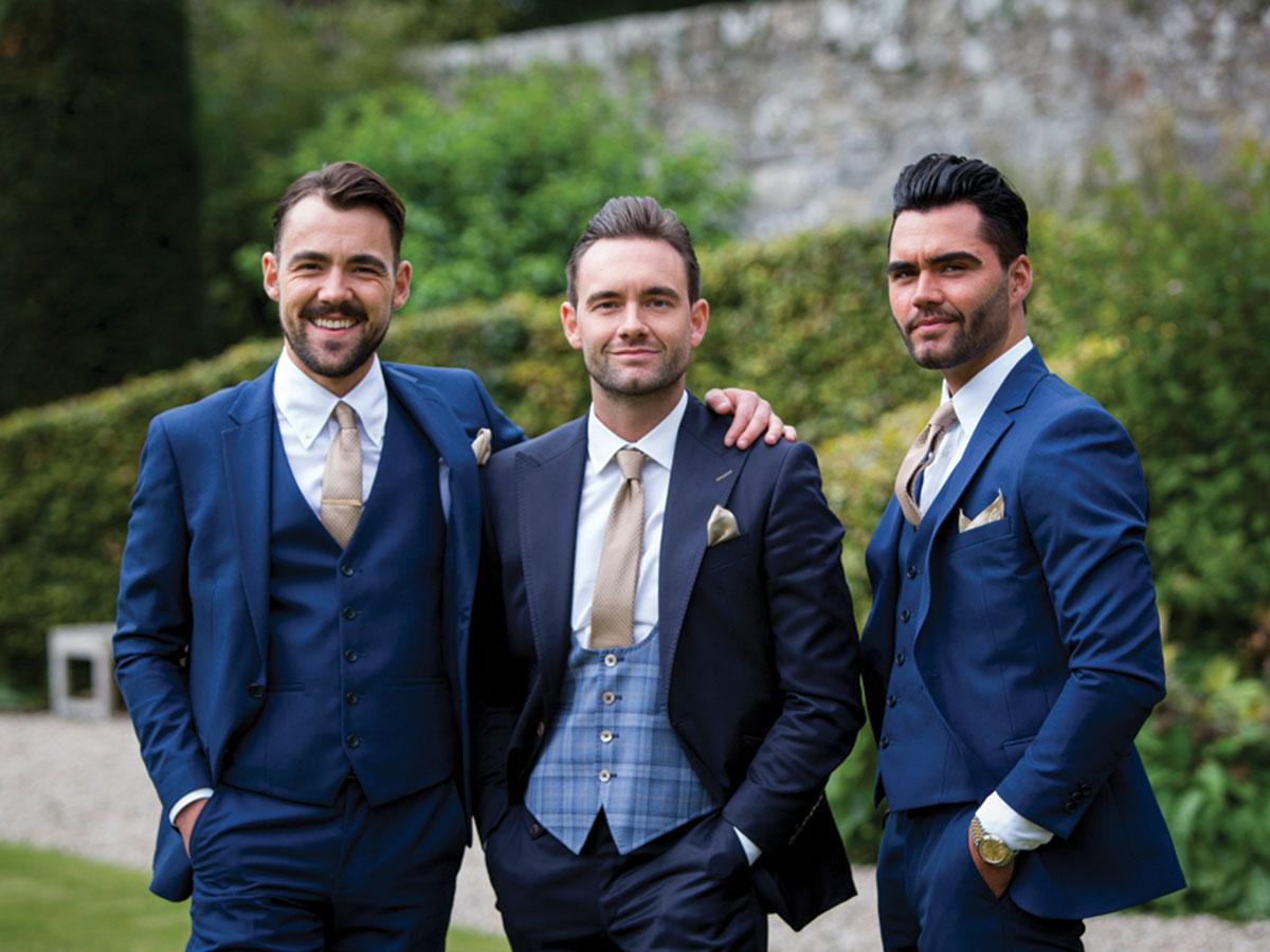 groom-and-groomsmen-in-blue-suits