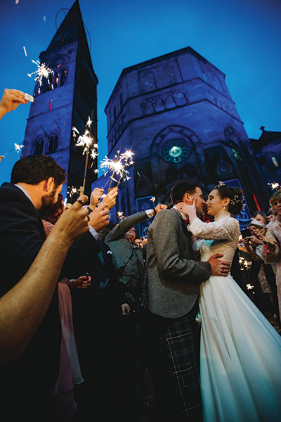 oran-mor-winter-wedding-with-sparklers