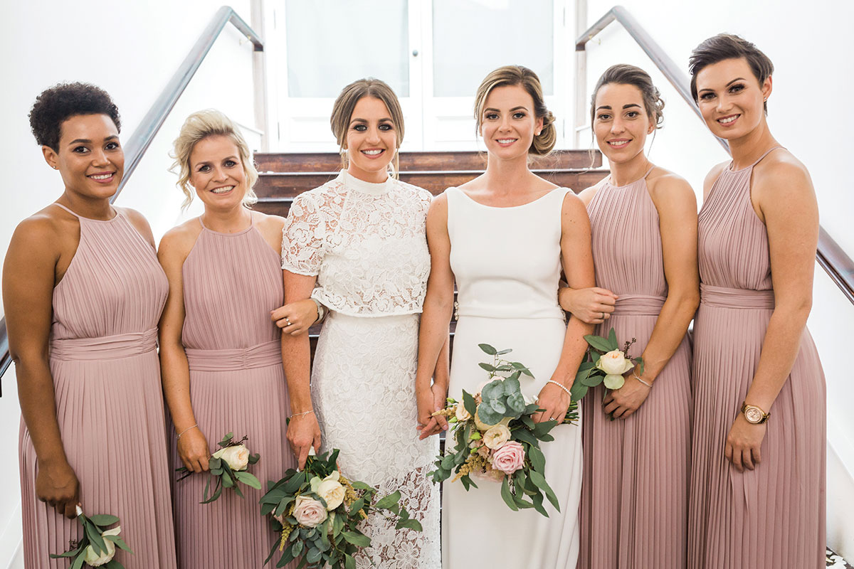 brides-and-bridesmaids-in-blush-gowns