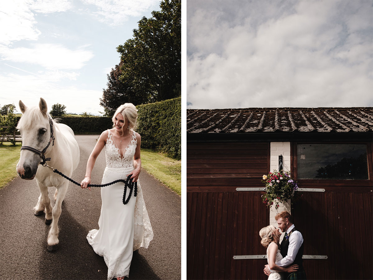 bride-with-a-horse-at-stables