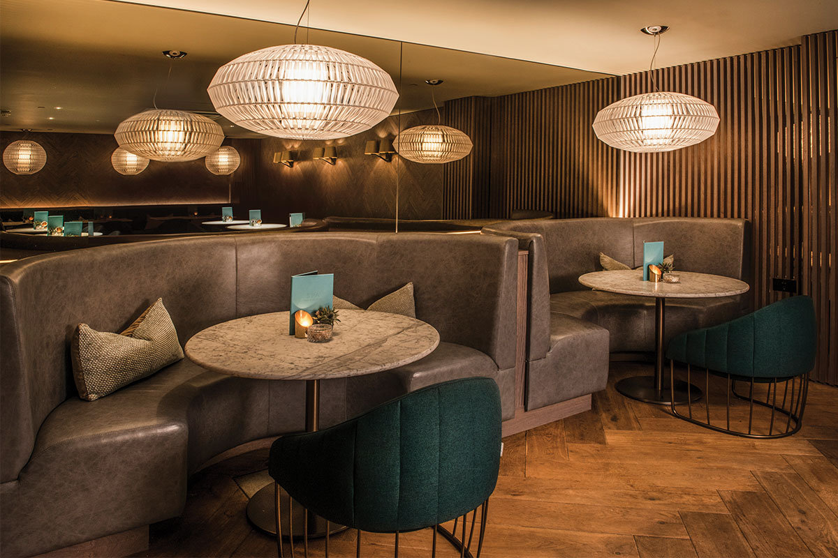 The Blythswood's lounge