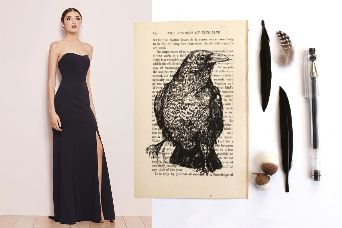 black-dress-and-crow-paper