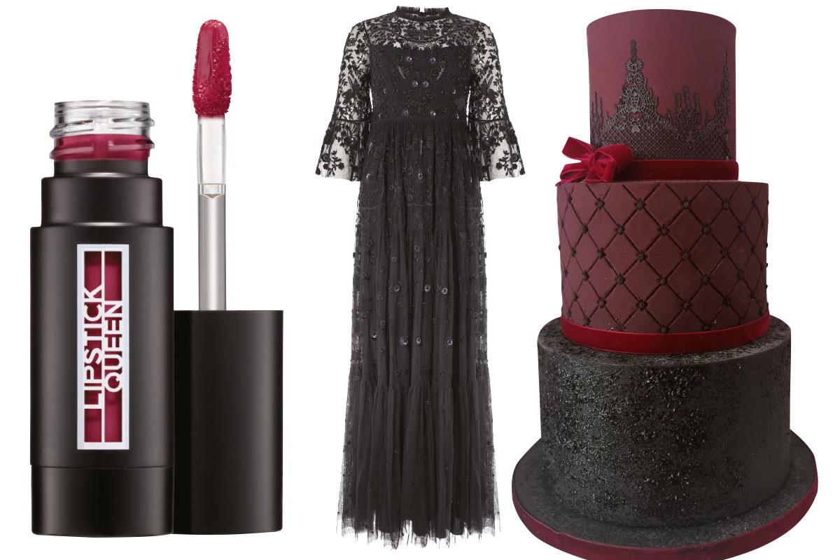 lipstick-queen-black-dress-and-jappacakes-wedding-cake