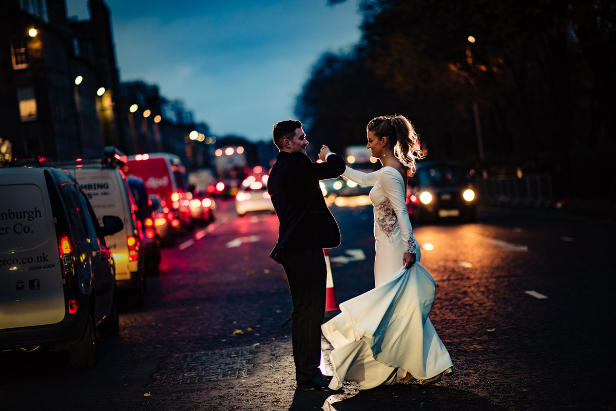bride-and-groom-dancing-crossing-the-street